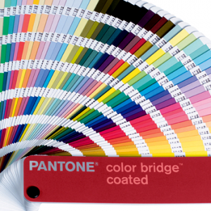 Pantone swatch book for matching colors in skateboard printing