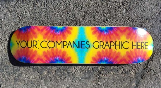 Spelling error on custom skateboard graphic